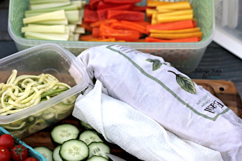 meal prep - weekly vegetable prep salvagesisterandmister.com