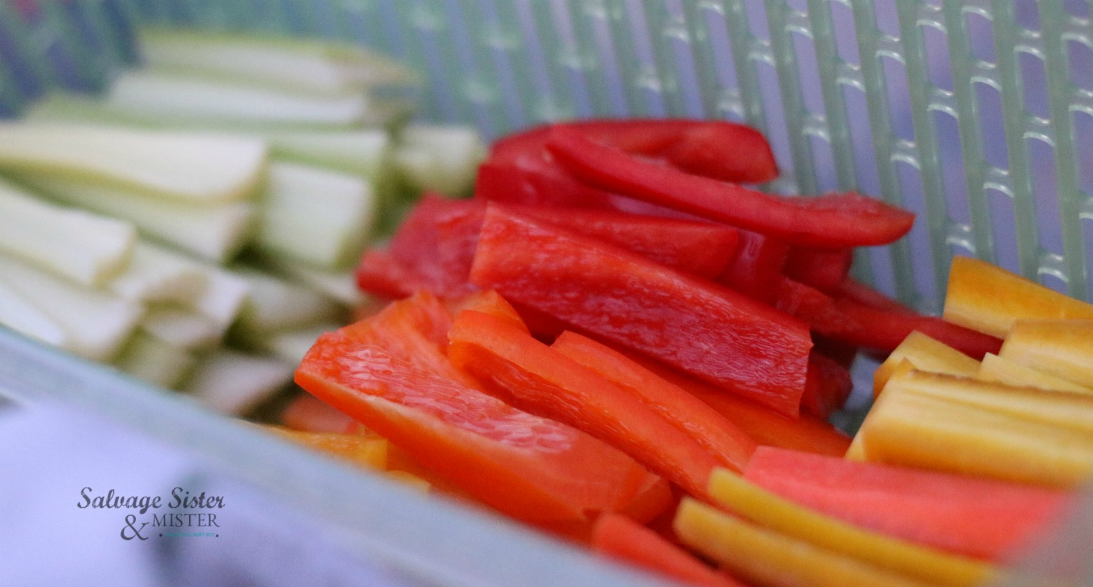 preparing veggies for the week on salvagesisterandmister.com