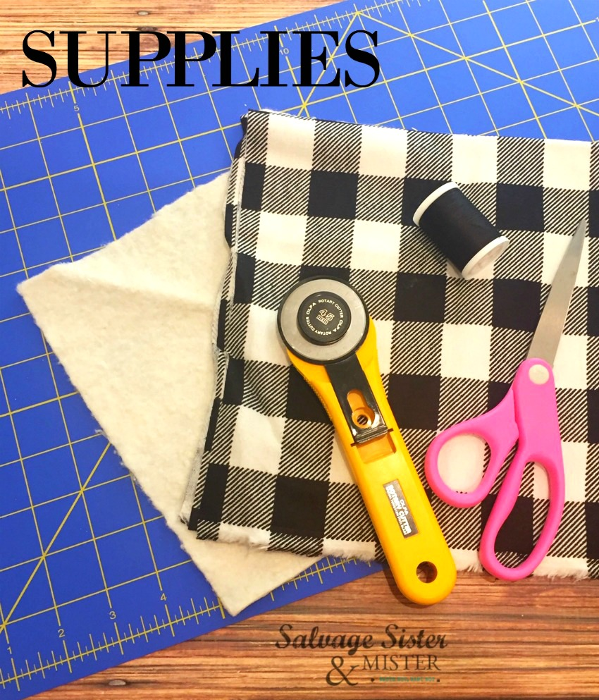 supplies for farmhouse buffalo plaid coasters diy projects on salvagesisterandmisiter.com