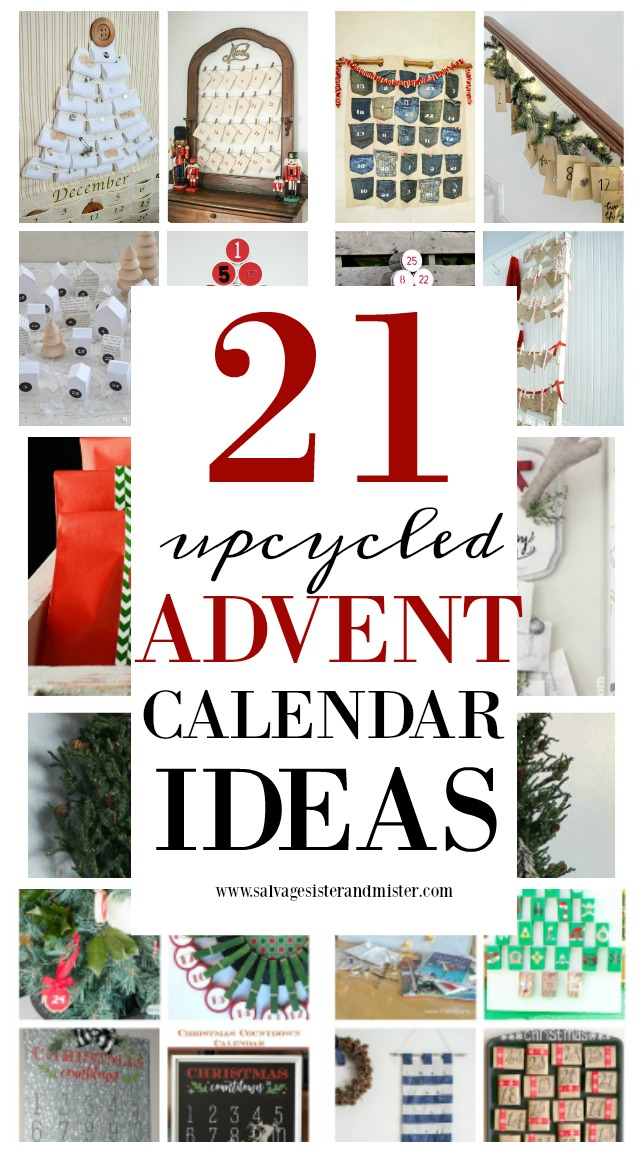 Christmas doesn't mean you have to buy it. You can make it using what you already have like these : 21 upcycled advent calendars. DIY your own with items you may have on hand. Reuse or repurpose those items for something new. Not only are these fun crafts for the holidays (do as a family) but they are budget friendly too. Find these ideas on salvagesisterandmister.com