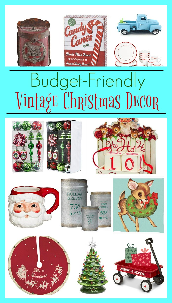 Love the retro look? Here are some budget-friendly vintage Christmas decor ideas for your holiday decorating. No school like the old school as they say. These items take you back to your childhood or your parents (or even grandparents). Check out these fun items to get your home ready for that vintage inspired look on salvagesisterandmister.com