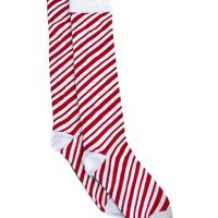 Charter Club Womens Candy Cane Holiday Christmas Knee-High Socks, Red, 9-11
