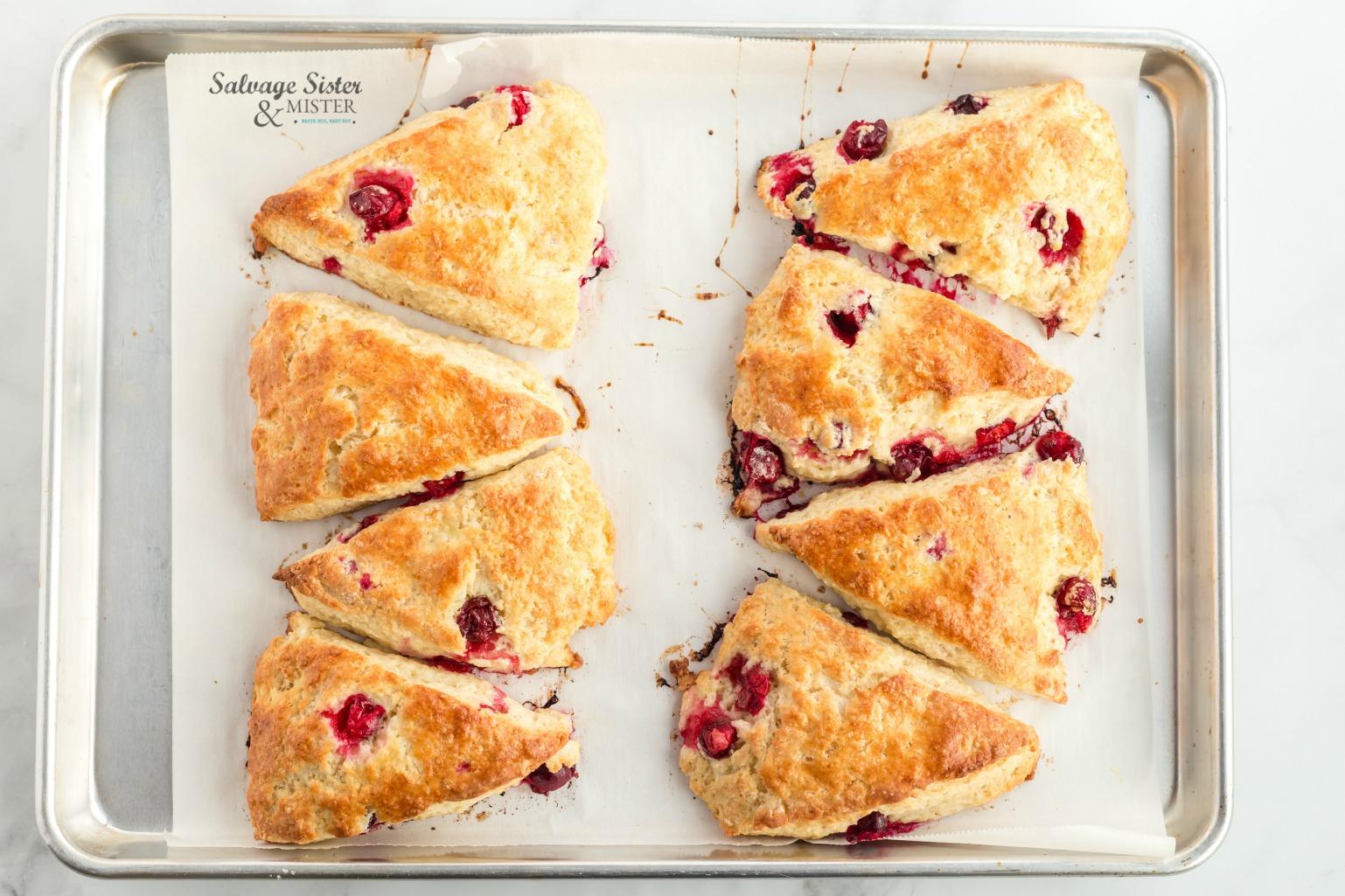 cranberry lemon scone recipe on salvagesisterandmister.com