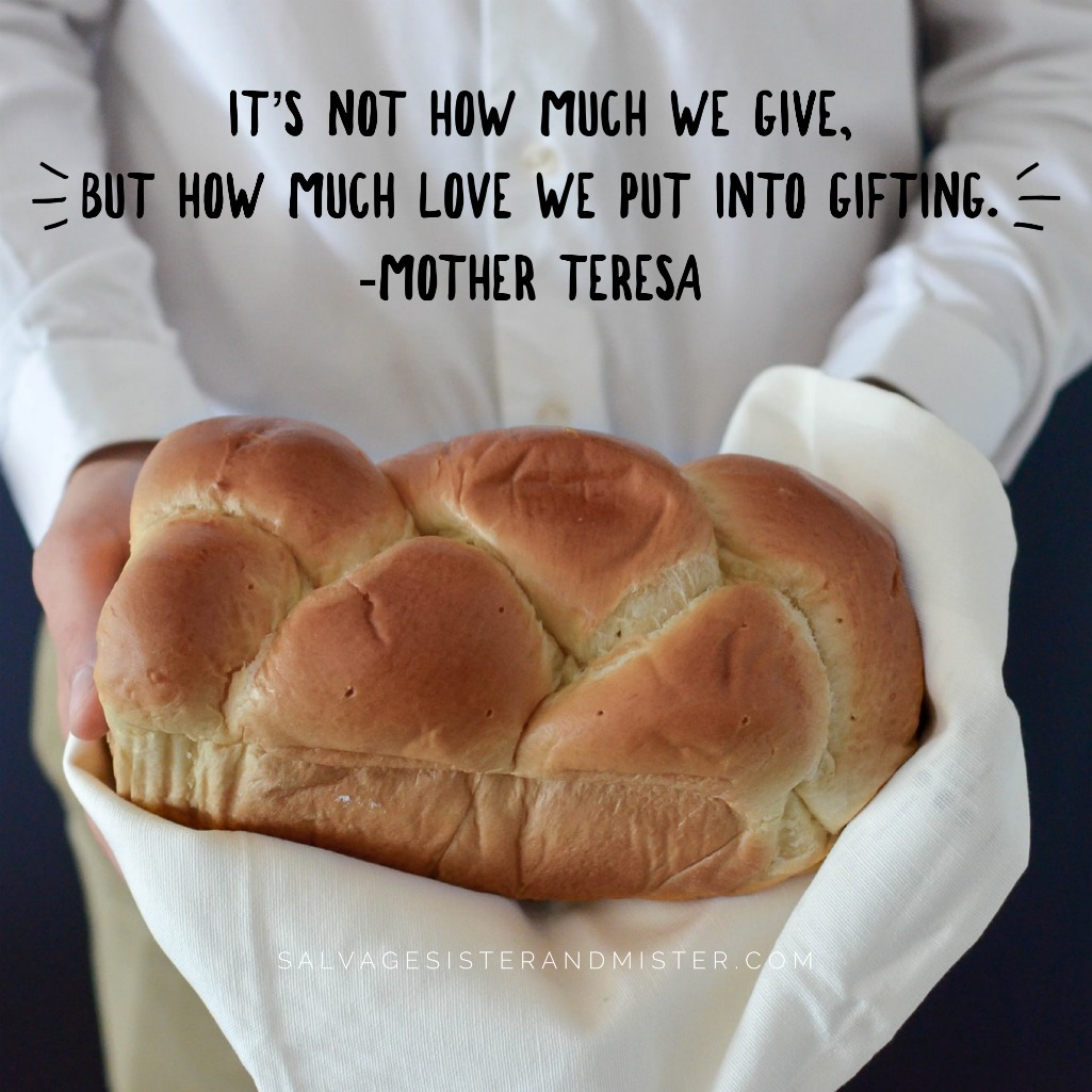 It's not how much we give but how much love we put into gifting. - Mother Teresa (post on giving myself financial freedom on salvagesisterandmister.com