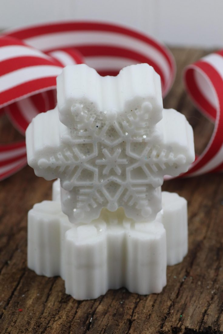 DIY Snowflake Soap