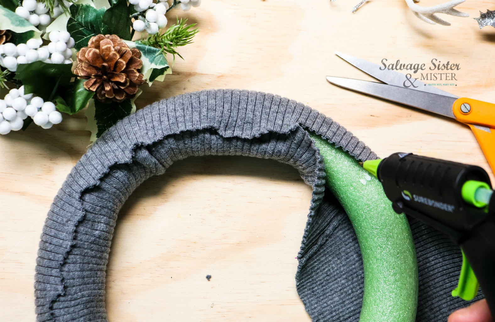repurpose sweater craft on salvagesisterandmister.com