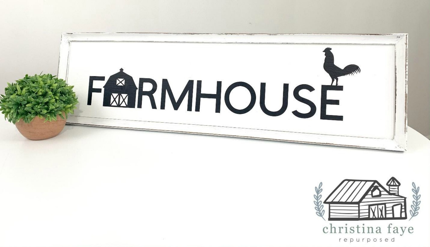 turning an old frame and ugly thrift store sign into this farmhouse beauty.  Get this diy craft tutorial feature on salvagesisterandmister.com (disctressed chalk paint )