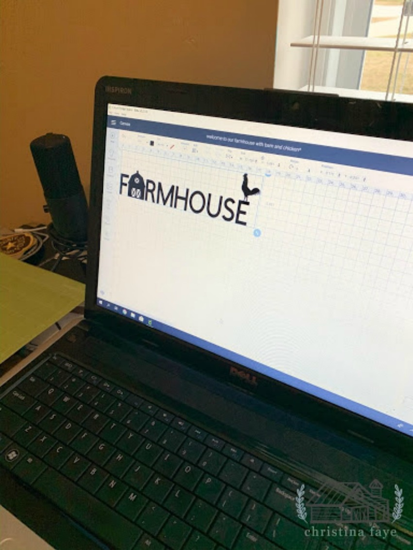 cricut farmhouse stencil