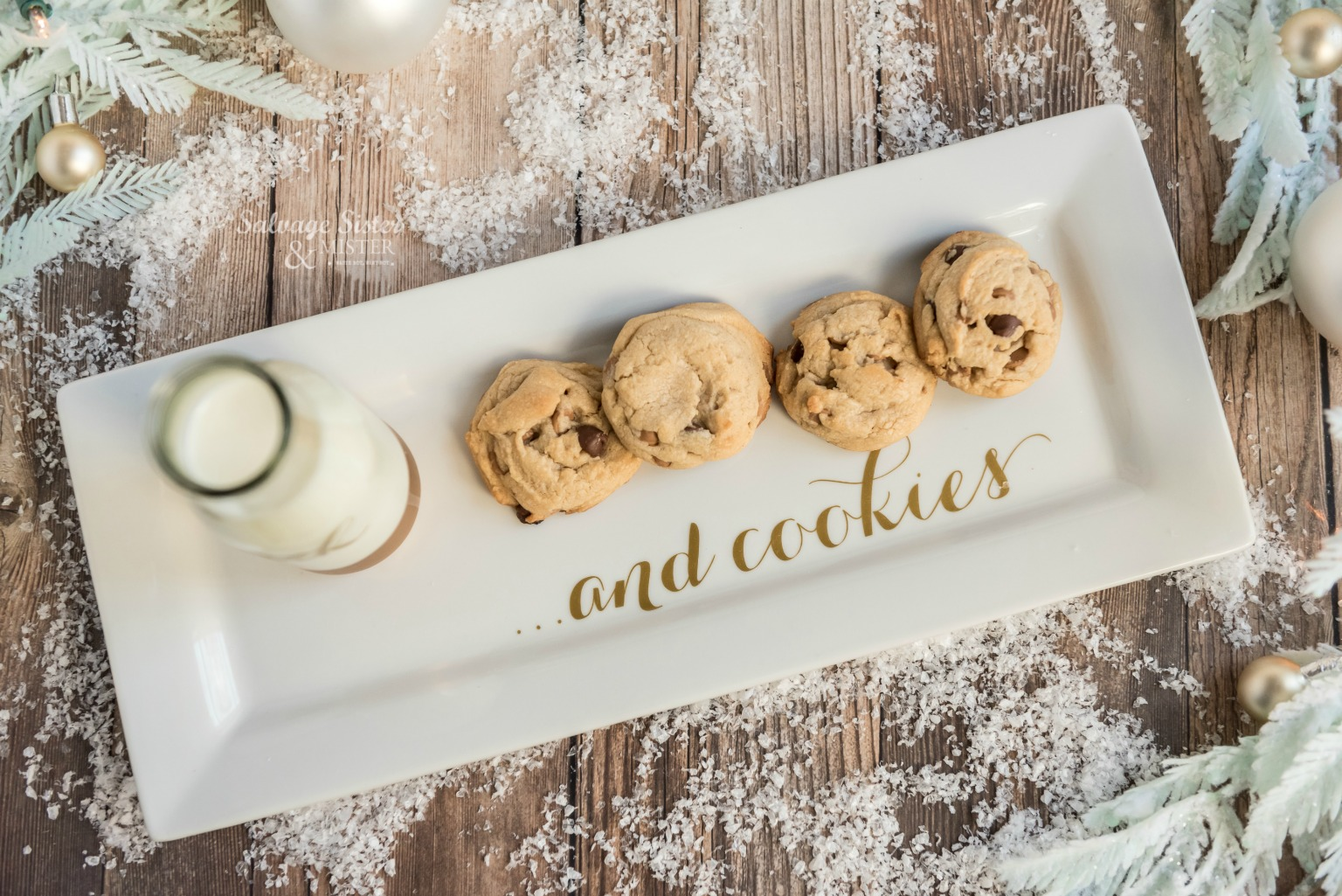 milk and cookie plate for santa on salvagesisterandmister.com (svg file)