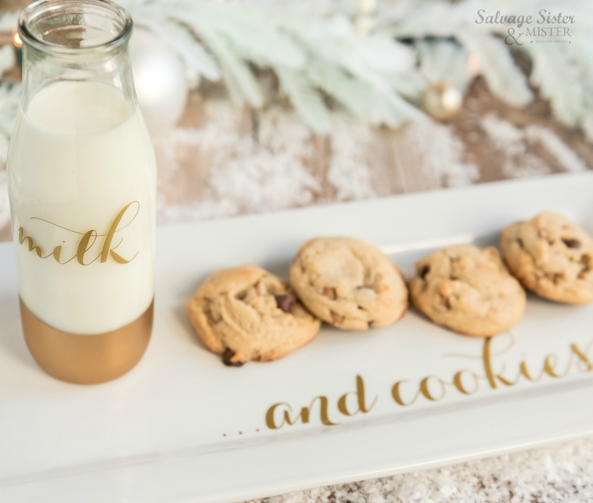 holiday cricut project - svg file - milk and cookies for santa on salvagesisterandmister.com