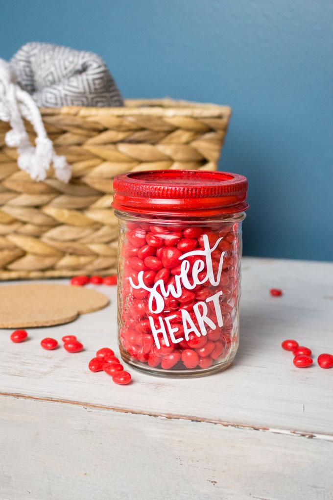 Cricut Valentine Mason Gift Jar