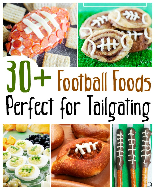 30 football-shaped foods for your big game get together or for your local sporting events. These appetizers, desserts, and main food football treats are great for a party. Everyone will yell SCORE!!! Get these easy and fun recipes on salvagesisterandmister.com