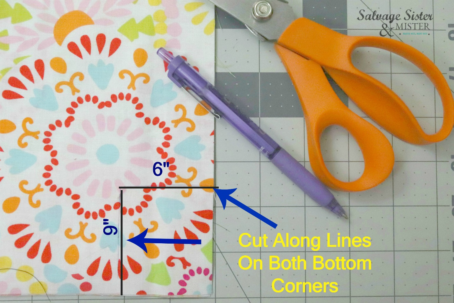 sewing tutorial on salvagesisterandmister.com