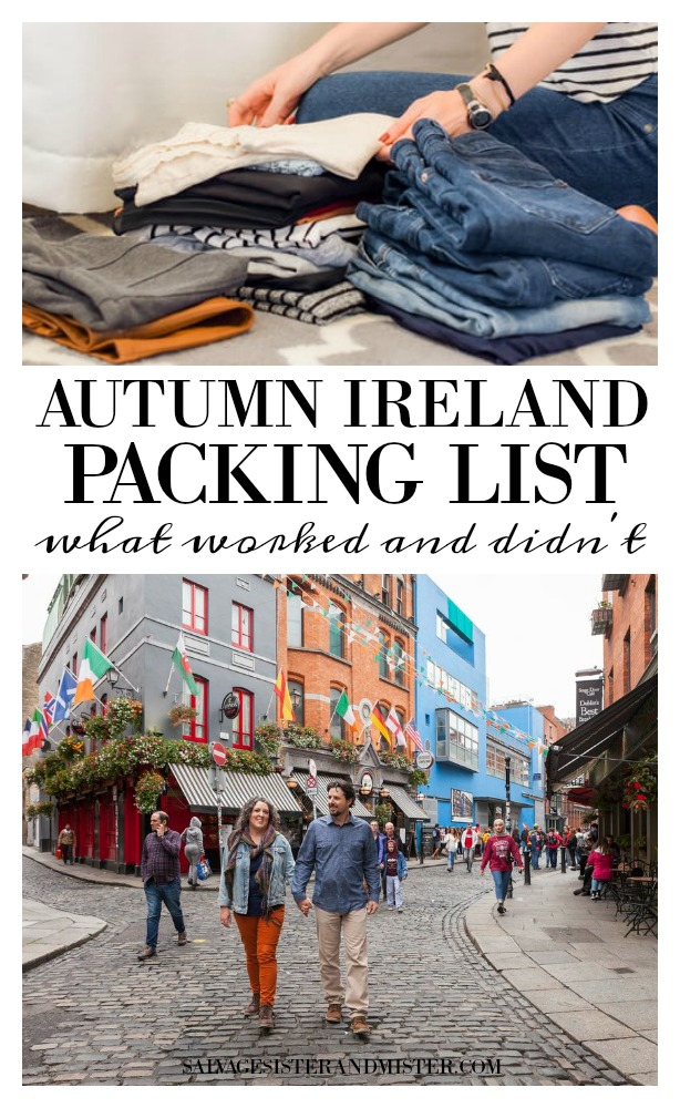 We took a trip to Ireland - our first international trip. Here is what we packed and the things that worked and didn't work plus what we wish we would have taken. Get all the details on salvagesisterandmister.com (travel tips)