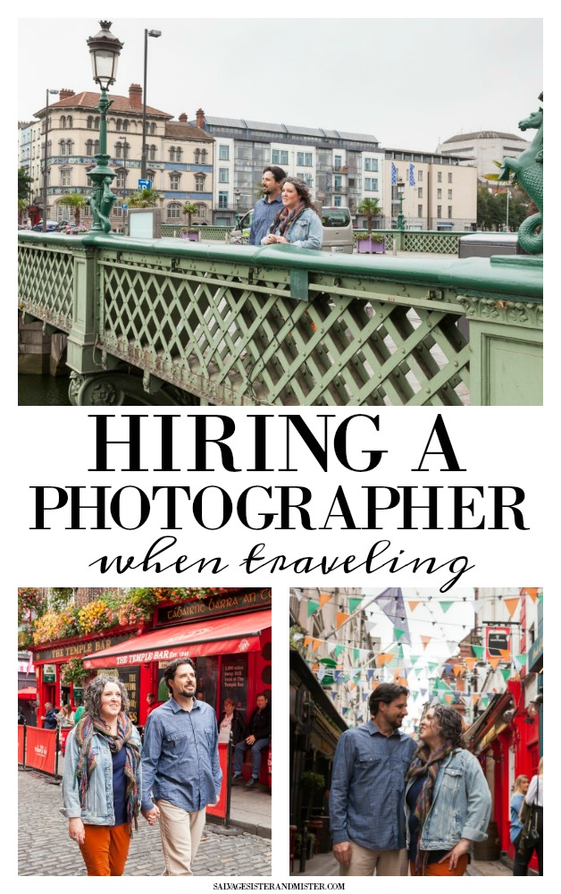 Should you hire a professional photographer when traeling?  Sharing our review of doing just that in Dublin Ireland.  Giving tips and advise and who we used plus a code for you to use.  Check out the full post on salvagesisterandmister.com