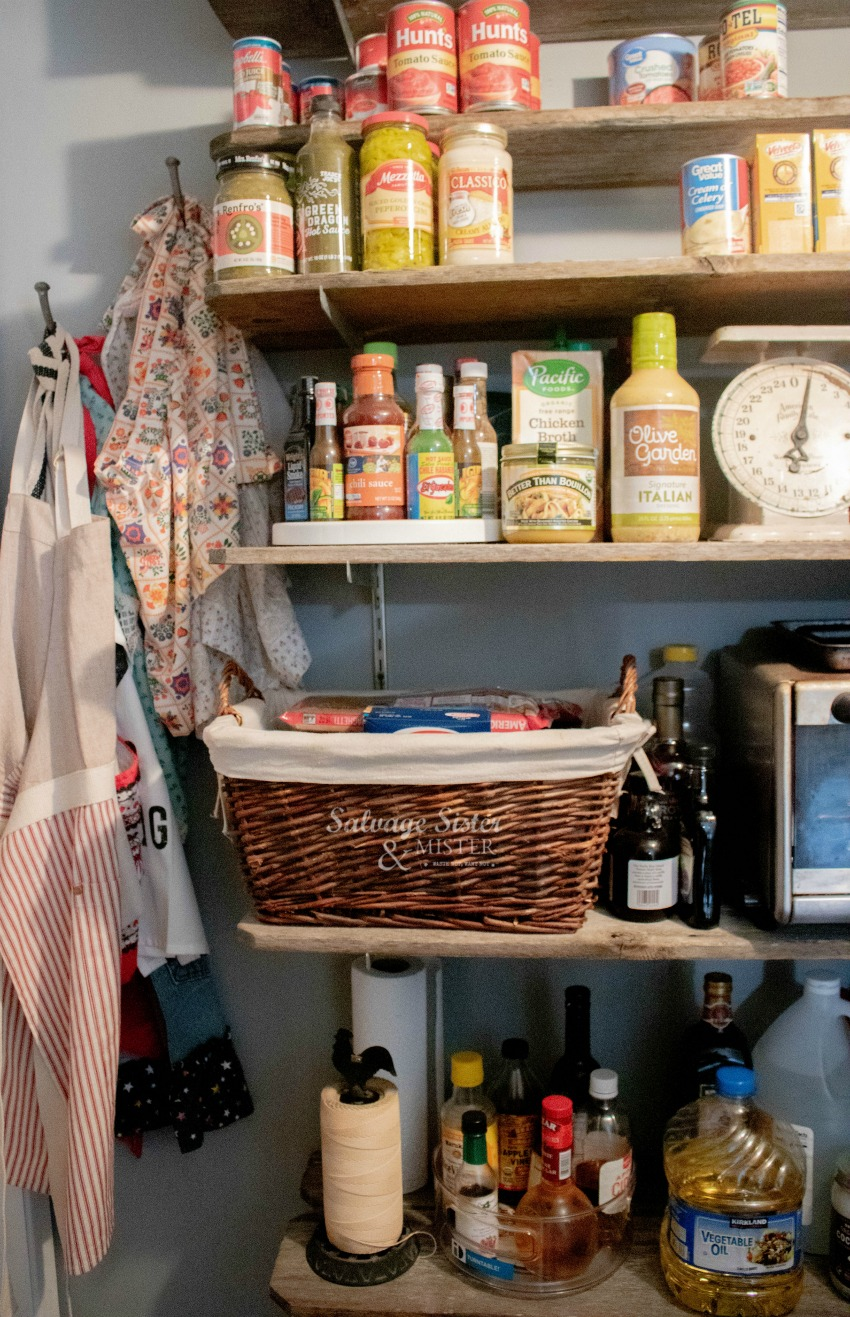Our diy walk-in pantry on salvagesisterandmister.com