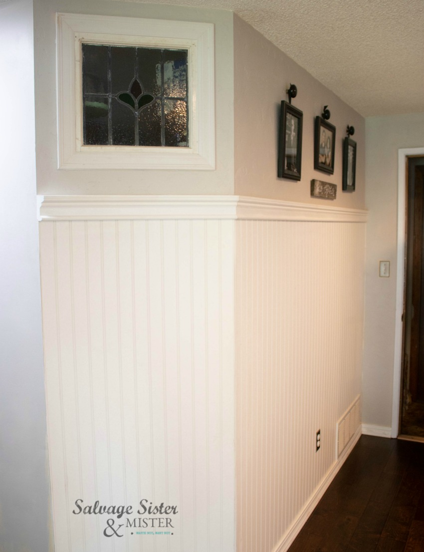 Building a DIY walk-in pantry for our budget-friendly remodel on salvagesistereandmister.com