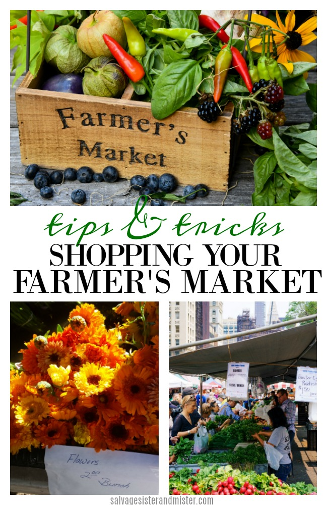 Shopping your local farmer's market is a great way to shop small and support your local farmer's.  There are some tips to getting the most from your visit and making sure you end up with quality merchandise.  Find these tips and tricks on salvagesisterandmister.com