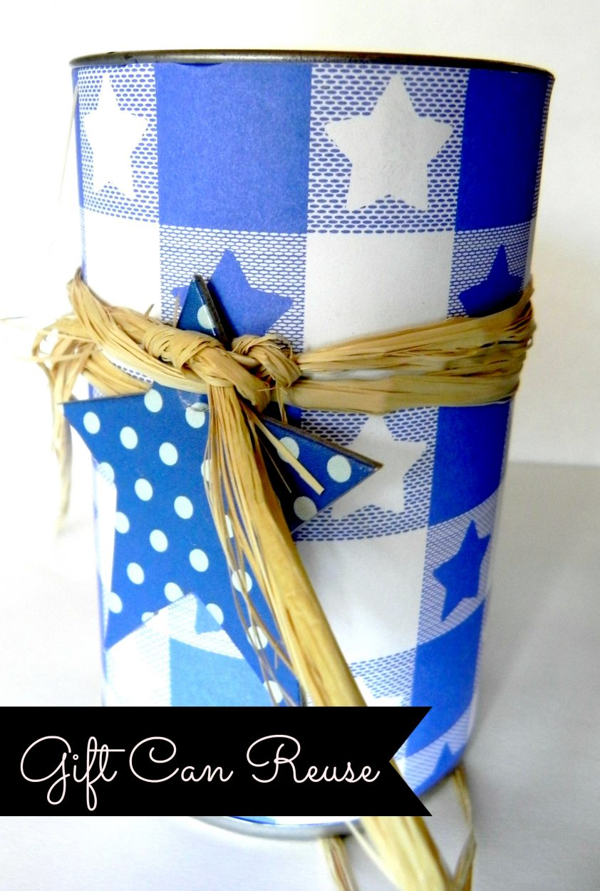 Containers that had packaged items in them are super easy to reuse and repurpose.  This container can reuse is a perfect way to use for gift giving, storage, decor, etc.  Find this craft tutorial on salvagesisterandmister.com