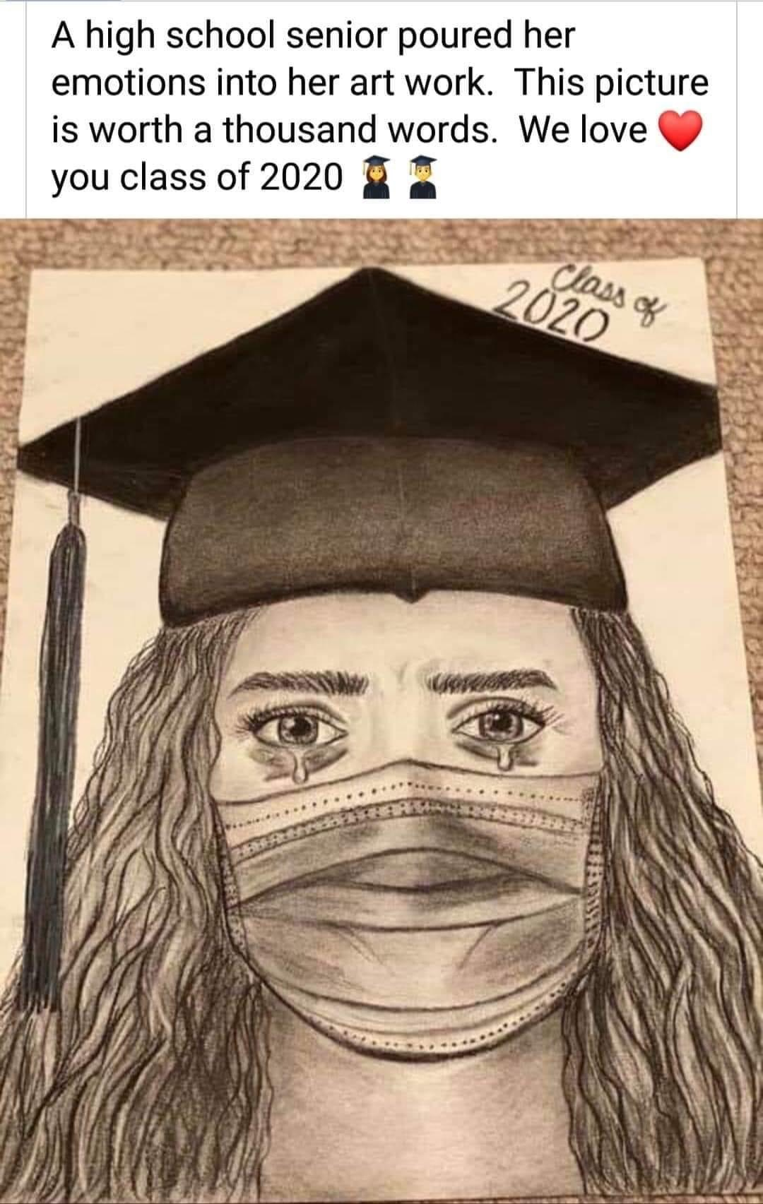 It's okay to grieve - graduate 2020