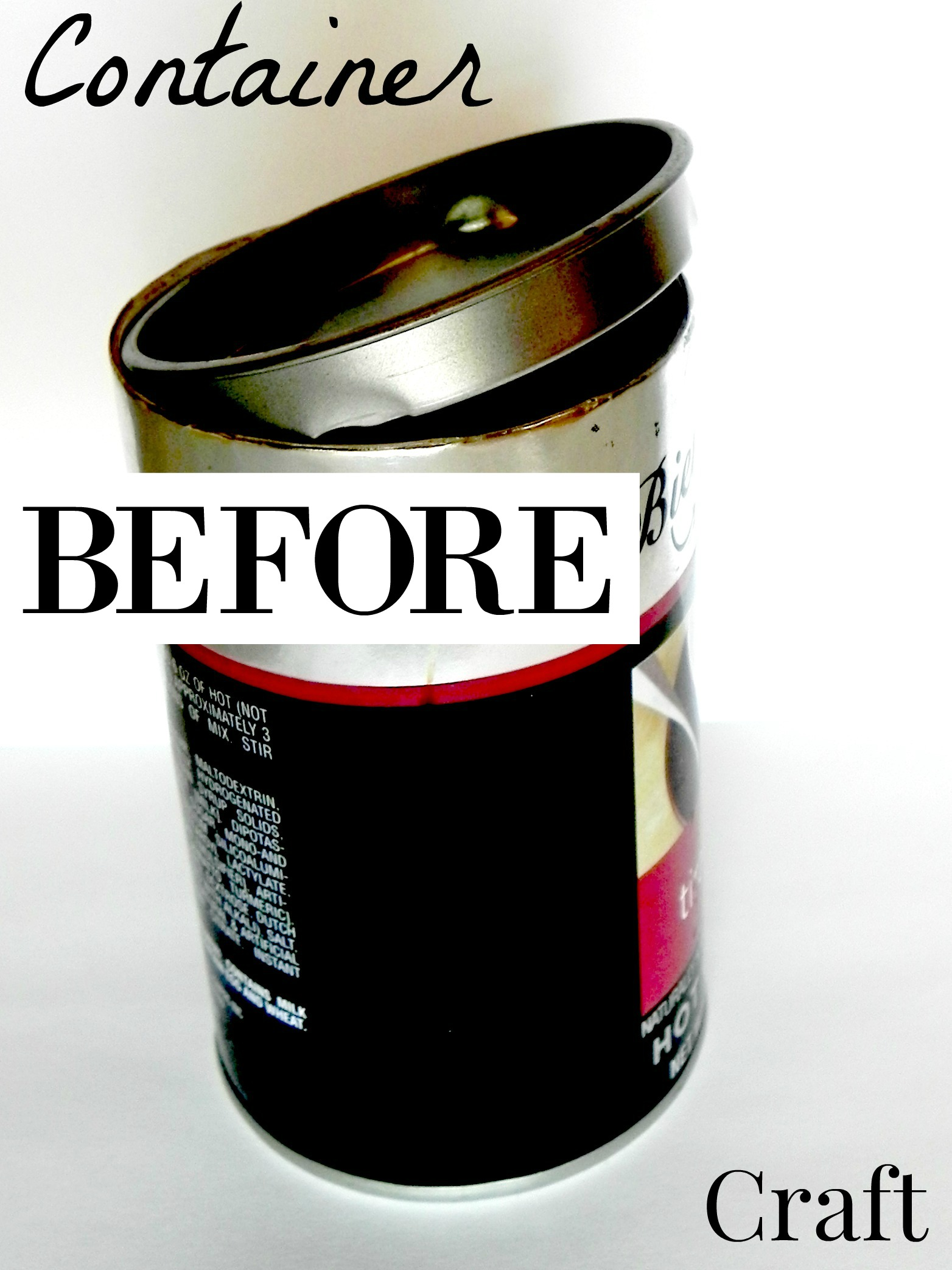 Turn that old can or container into something new.  Use to t give as gifts, for decor, or to store items.  Waste not, want not. Find this DIY tutorial on salvagesisterandmister.com