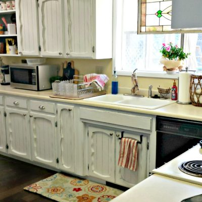 thrifty kitchen makeover for less than $500 on salvagesisterandmister.com
