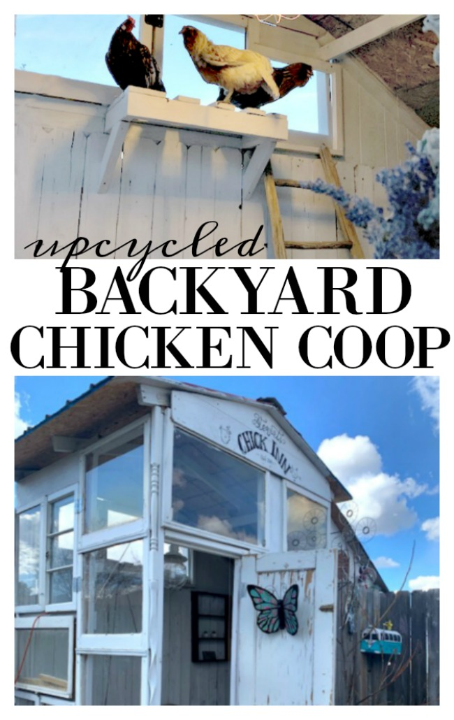 upcycled backyard chicken coop