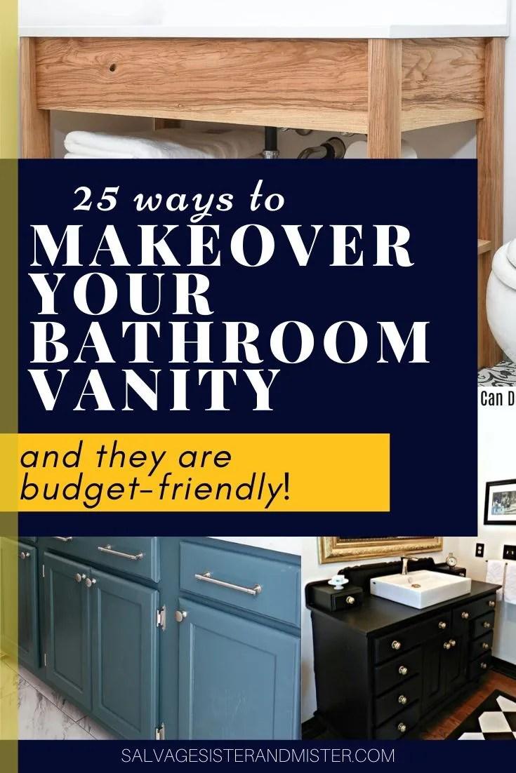 25 diy bathroom vanity makeovers