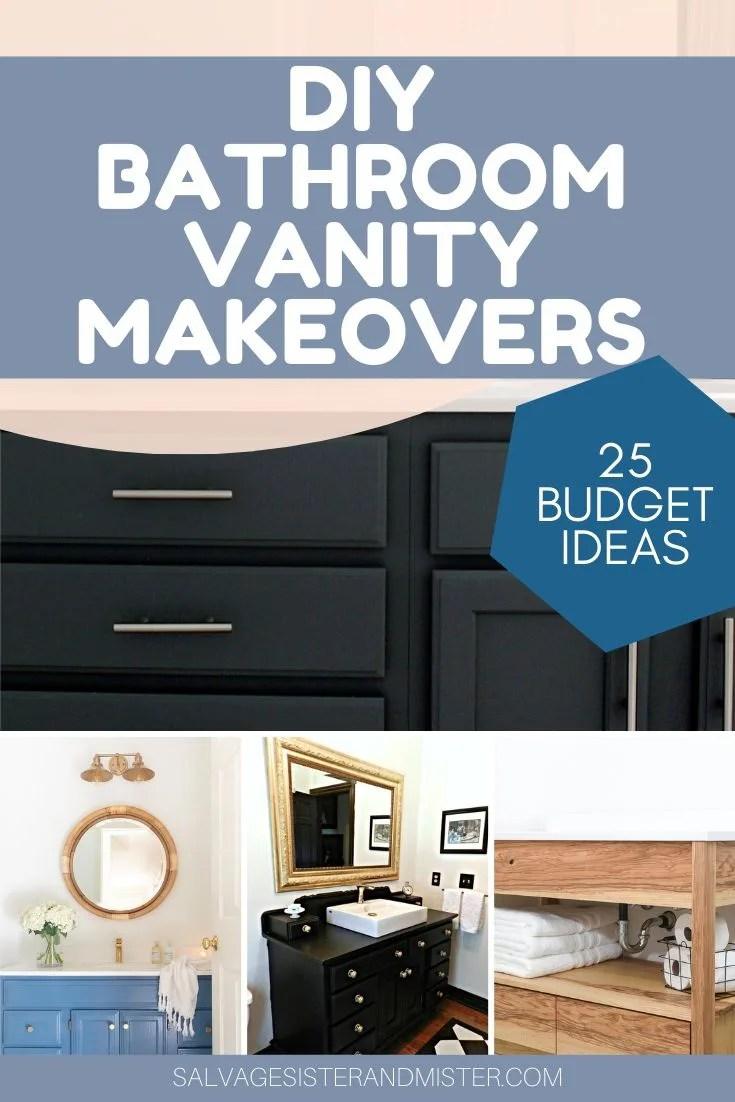 diy budget bathroom vanity makeovers