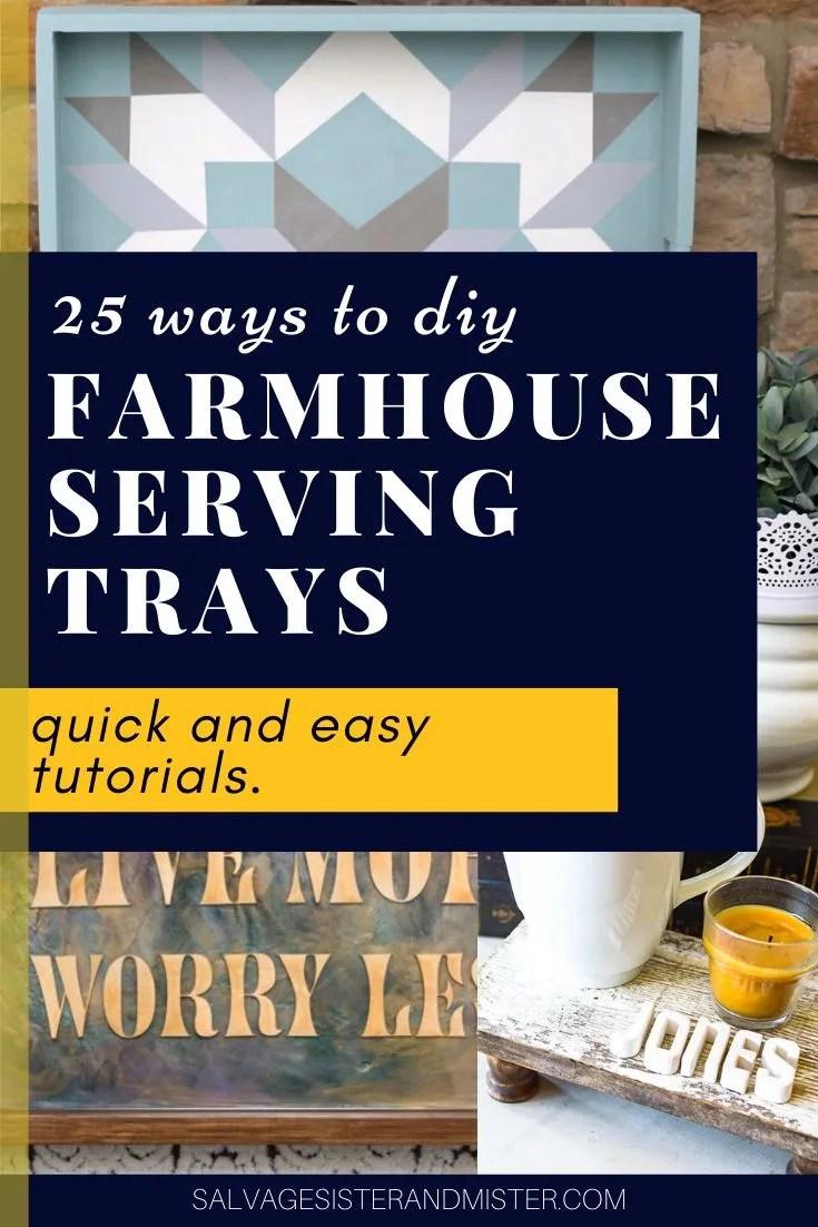 farmhouse trays collage