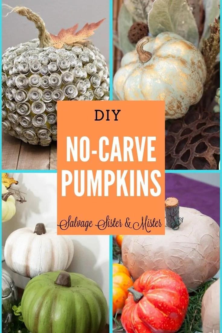 no-carve diy pumpkins