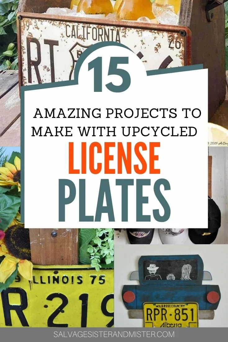 15 Upcycled DIY License Plate Projects