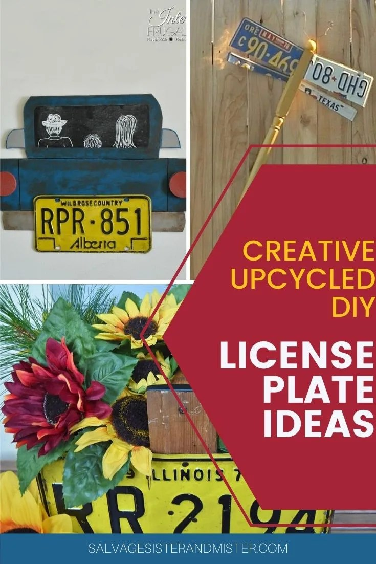 diy upcycled license plate projects