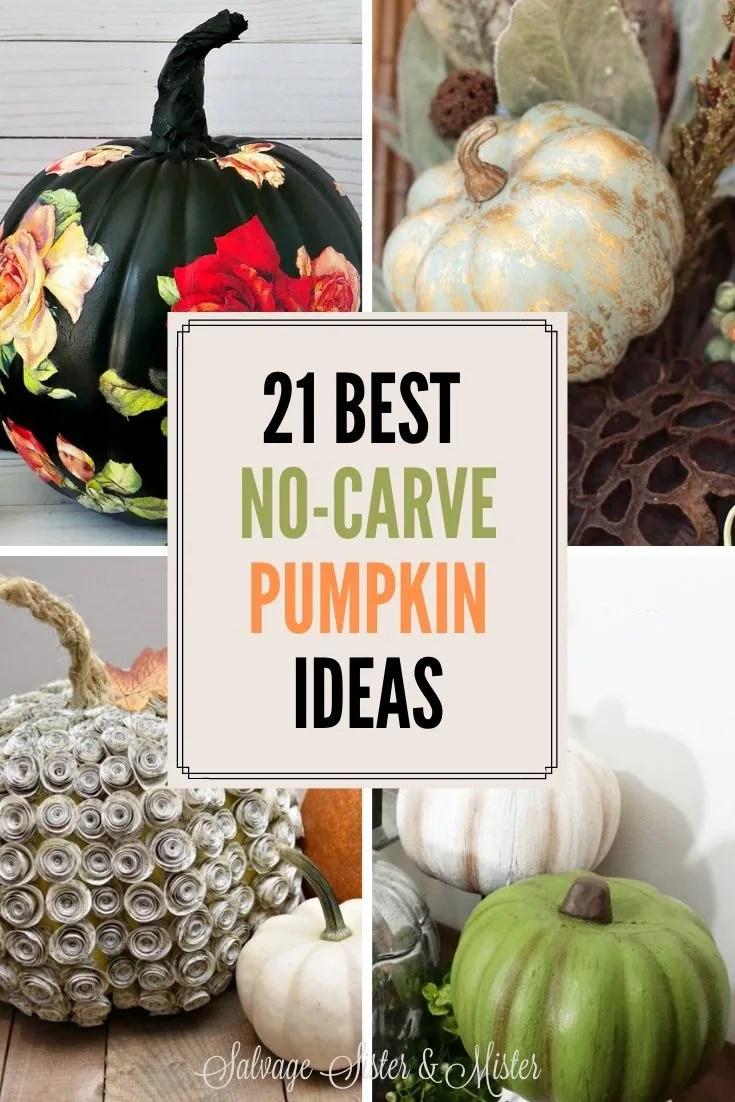 21 diy no-carve pumpkin ideas