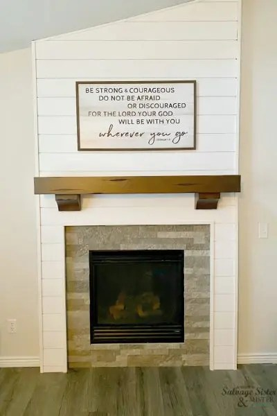 after image of diy wall cutout update farmhouse style
