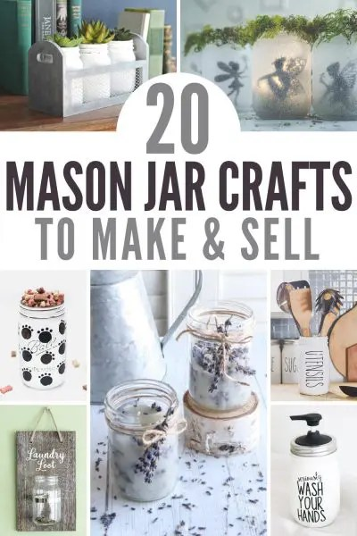 mason jar crafts to sell pin image