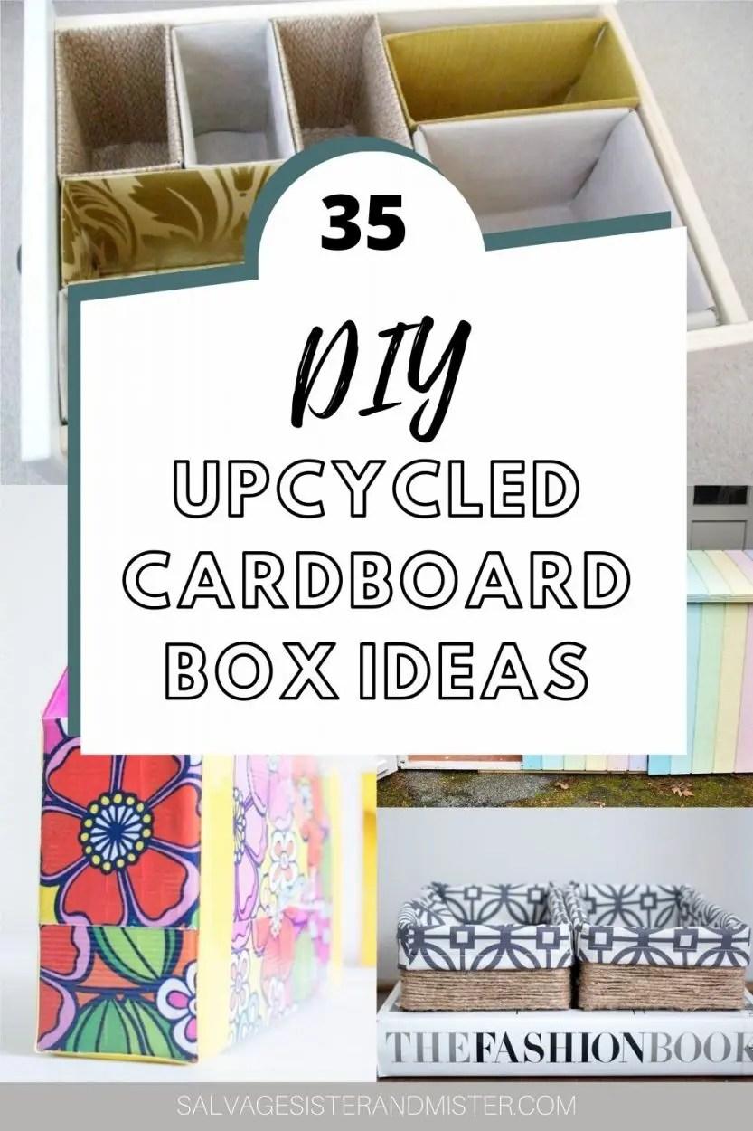 35 diy cardboard boxes