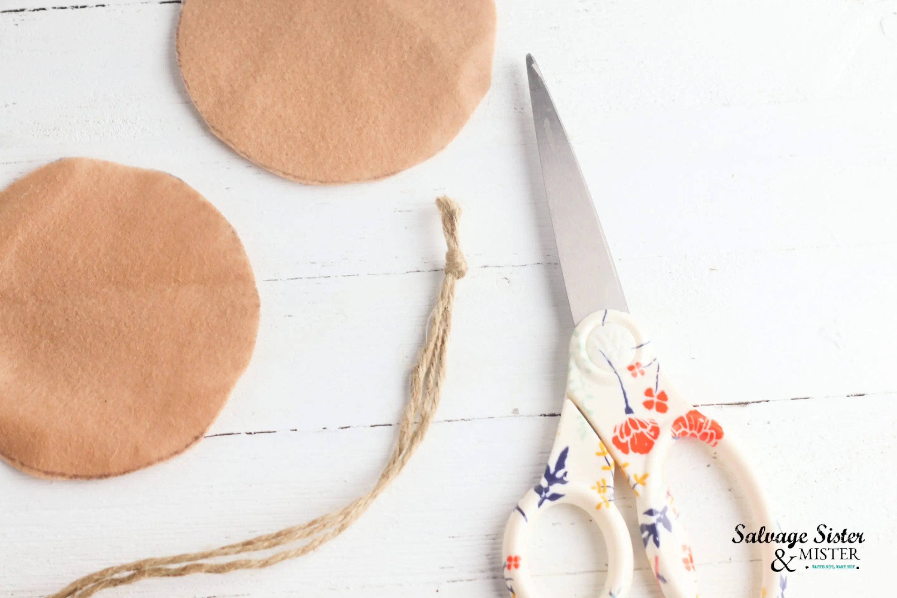 Only basic tools are needed to make jute coasters.