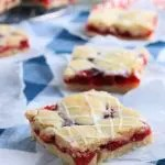 Cherry Bars should be cut into bite individual sized servings.
