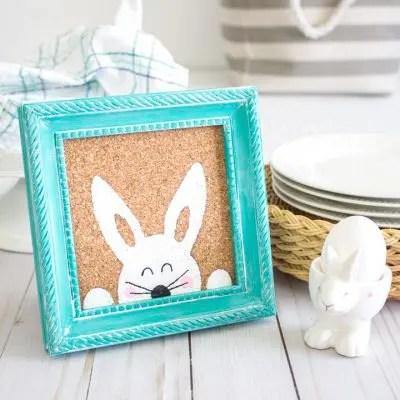 framed bunny art for Easter