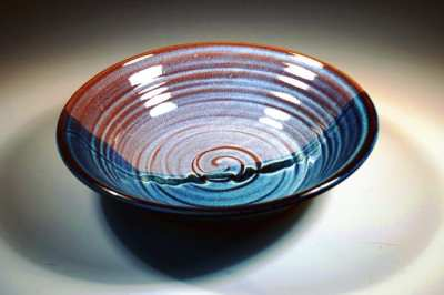 pottery serving bowl