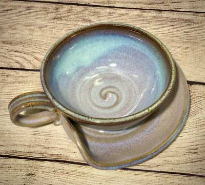 Soup bowl pottery