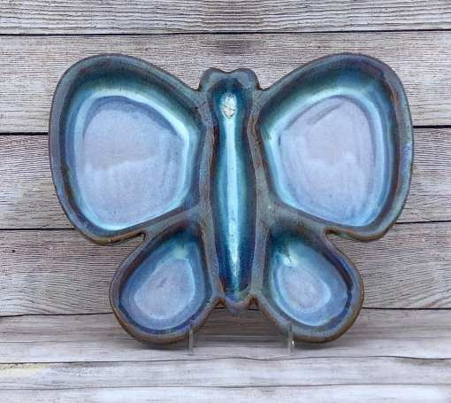 butterfly serving tray salvaterra pottery