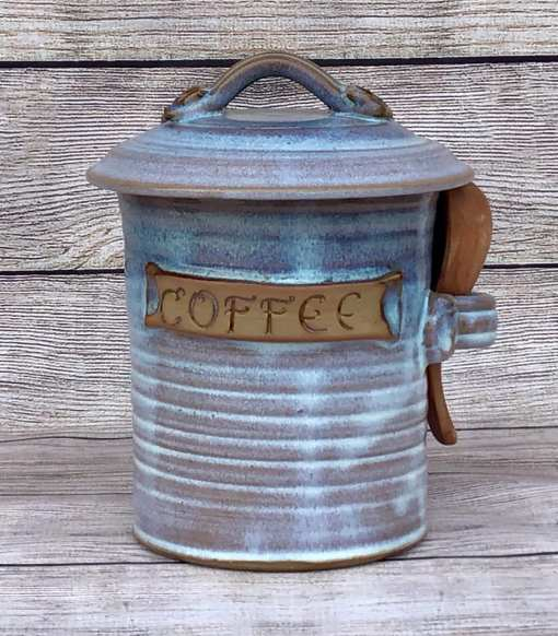 coffee canister pottery salvaterra