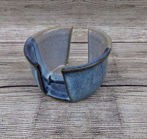 Blue salvaterra pottery sponge holder