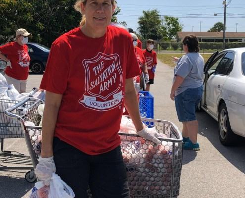 covid food distribution volunteer