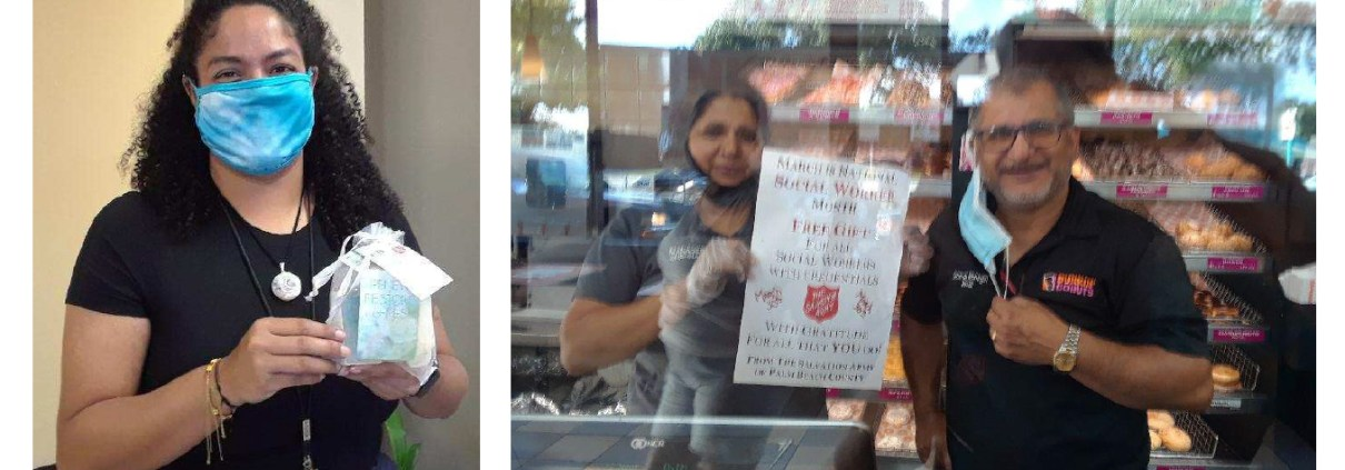 The Salvation Army of Palm Beach County Social Worker Dunkin Donuts