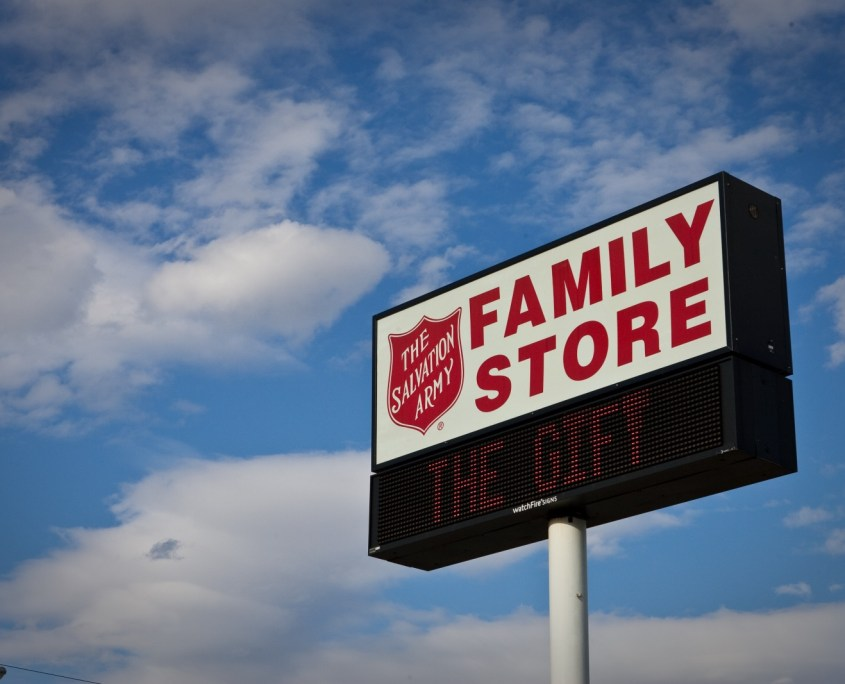 Salvation Army Family Store Sign