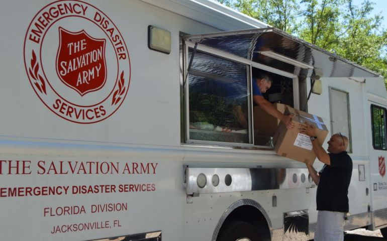 The Salvation Army Distributes Care Packages to Isolated Community in Northeast Florida