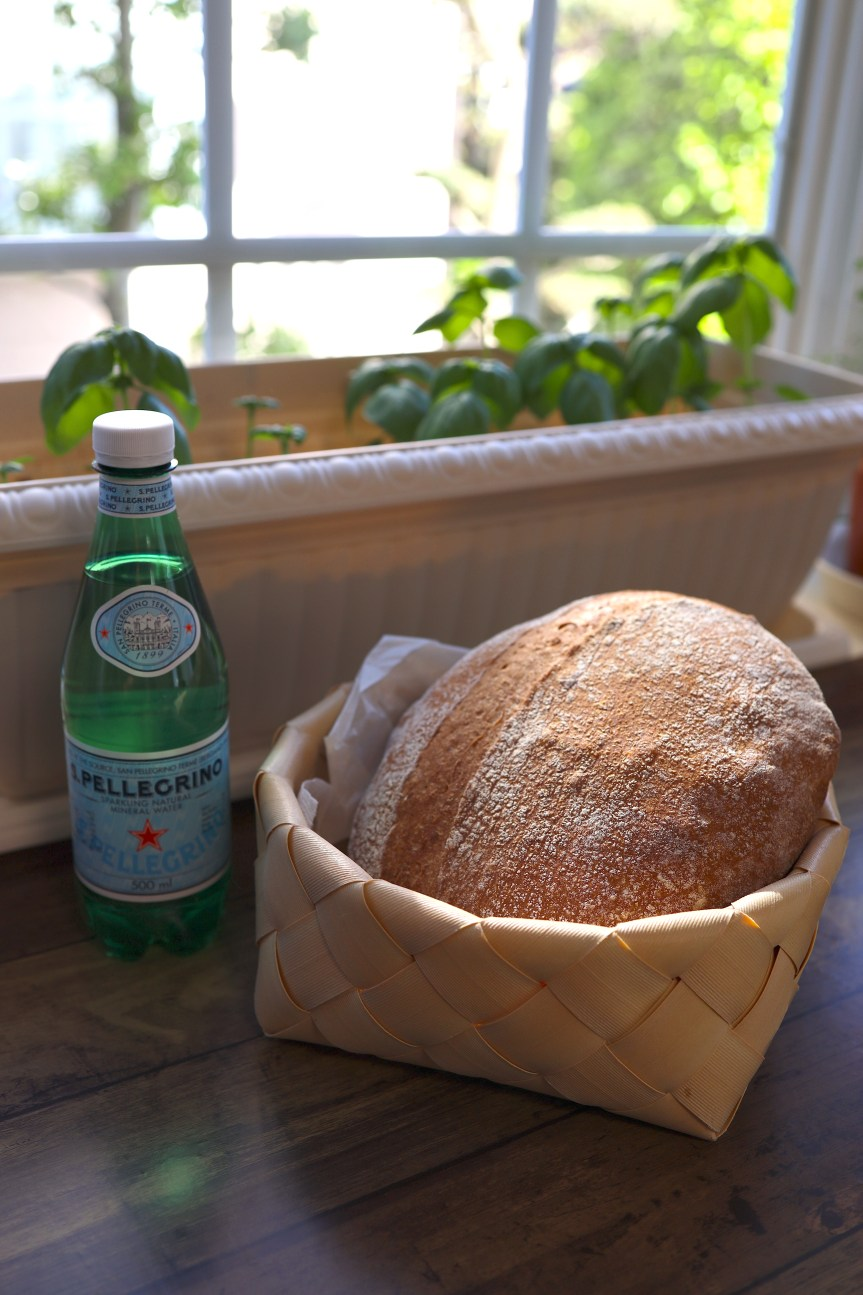 Easy artisan bread made with San Pellegrino